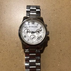 Authentic Silver Michael Kors Watch